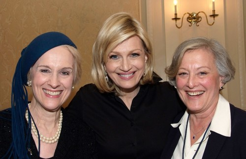 At the Wellesley Centers for Women event from left to right: Joan Capelin, ABC's Diane Sawyer, and event co-chair Betty P. Rauch, chairperson of The Fortune Society